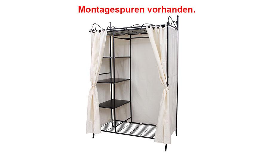 gebrauchte kleiderschrank stoffschrank faltschrank mit vorhang r170525b rtg03h ebay. Black Bedroom Furniture Sets. Home Design Ideas
