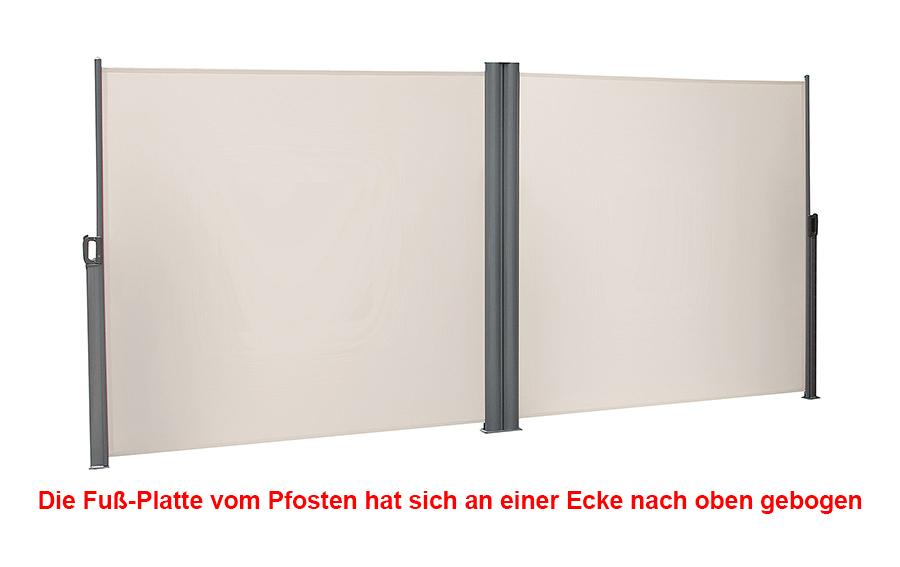 gebrauchte doppel seitenmarkise seitenwandmarkise sonnenschutz r170817b gsa360e ebay. Black Bedroom Furniture Sets. Home Design Ideas