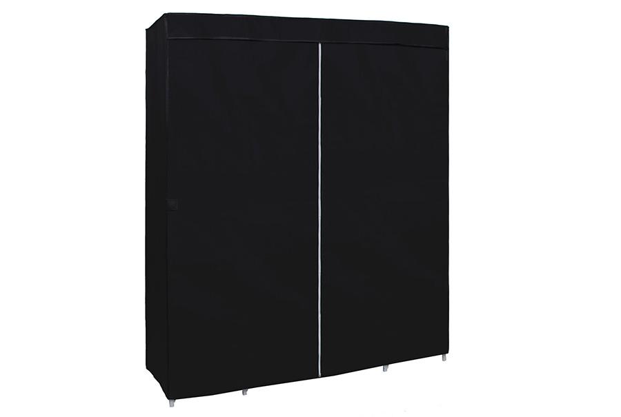 kleiderschrank faltschrank garderobe stoff schrank mit. Black Bedroom Furniture Sets. Home Design Ideas
