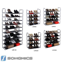 schuhregal f r ca 40 paar schuhe schuhschrank schuhst nder 10 ebene lsr003 ebay. Black Bedroom Furniture Sets. Home Design Ideas
